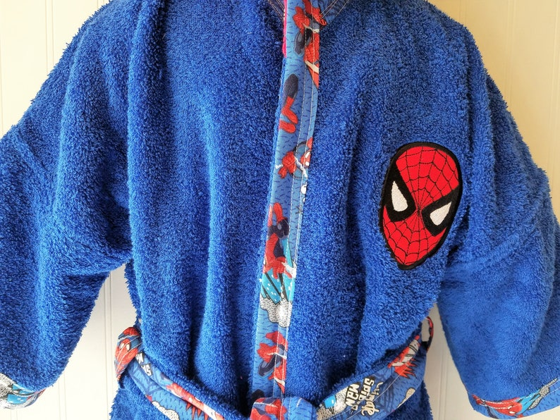 23149bd564 Personalized-Boys-Bath-Robes-Bathrobes-Super-Hero-Spider-Man-B