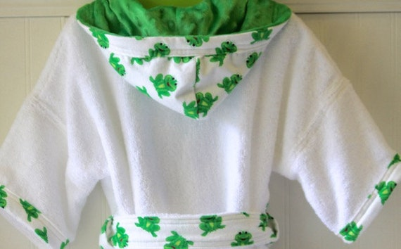 e12d7d75d8 Boys-Bath-Robes-Boy-Robe-Frogs-Green-Bathrobes-Childrens-Spa-B