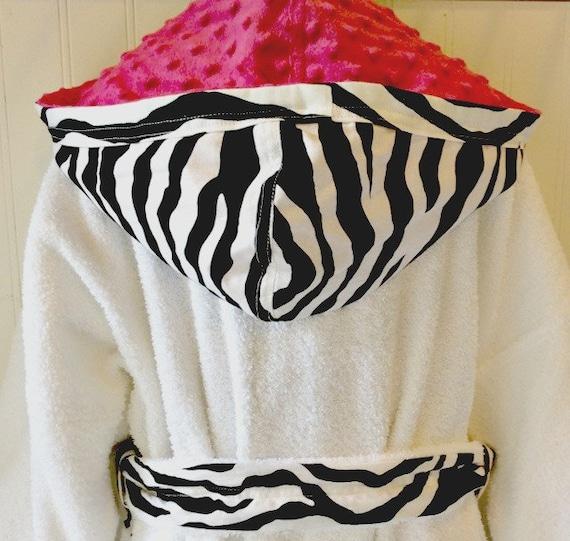PERSONALIZED-Kids-Robes-Girls-Girl-Bath-Robe-Pink-Zebra-Childr  3dc0728d0