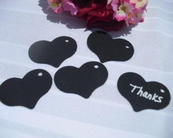 Favor Tags Chalkboard  Hearts - SET OF 10 - Item 1002