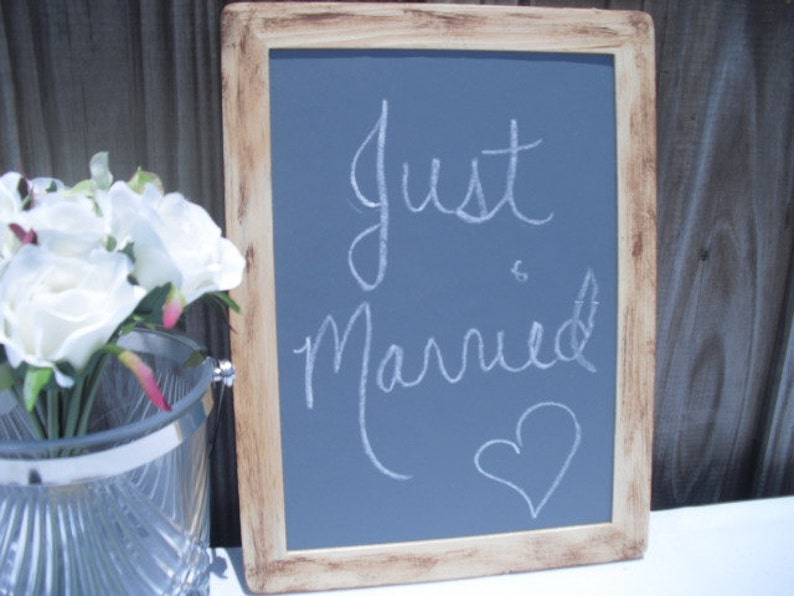 1 Large Barnwood Style Rustic Distressed Family Photo Prop Chalkboards Item 1051