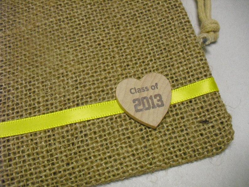 da6269313 Graduación Favor Bags SET de 10 bolsas de arpillera con | Etsy