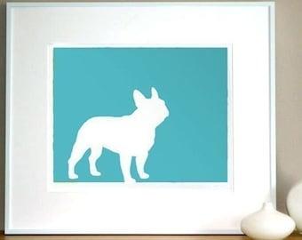 Mod French Bulldog Frenchie Print - 11x13