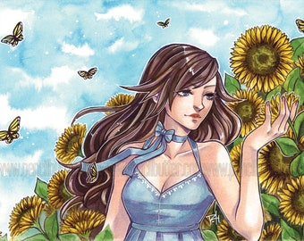 Sunflowers - 4x6 POSTCARD