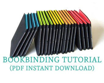 Beginners Bookbinding Tutorial, DIY Journal or Notebook, Easy Indoor Craft for Adults and Kids, PDF Instant Download