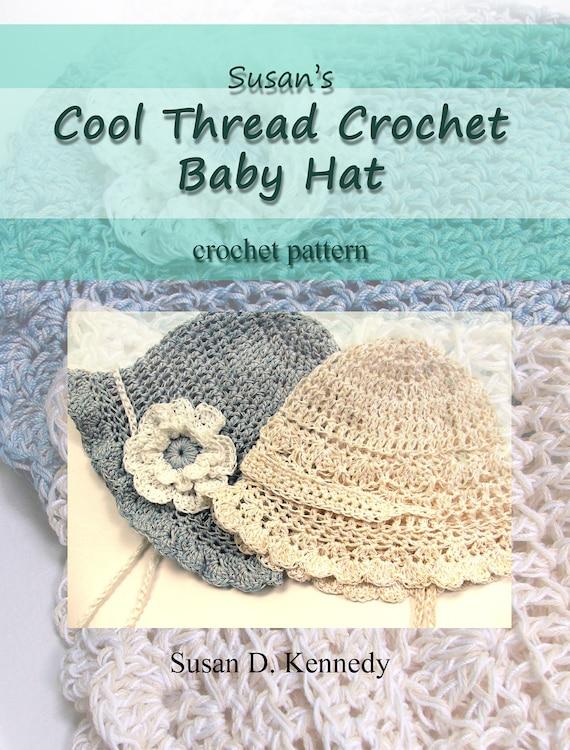 Baby Hat Crochet Pattern Fast Cotton Thread Crochet Pattern Etsy