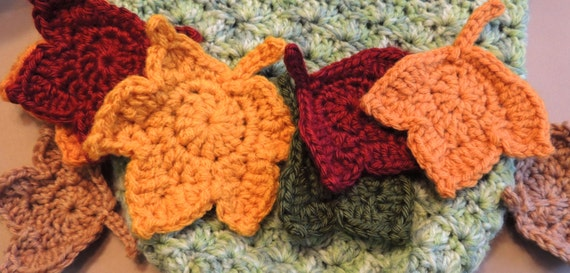 Sale Leaf Patterns 2 Fast And Easy Fall Maple Leaf Crochet Etsy
