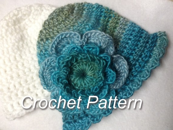 New Simple Baby Flower And Baby Hat Crochet Pattern Fast Etsy