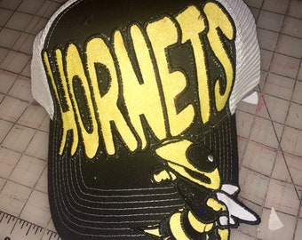 Hornets Appliqued Embroidered Hat 378c3091c246