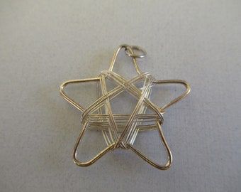 Wire wrapped star, star pendant, wire pendant, star, wire star
