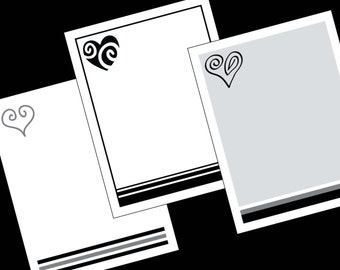Heart Notes to Print at Home