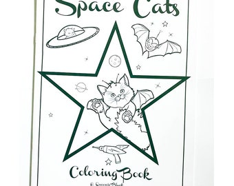 Space Cats Coloring Book