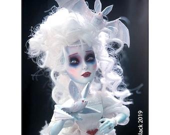 OOAK Victorian Vampire Doll Art Piece