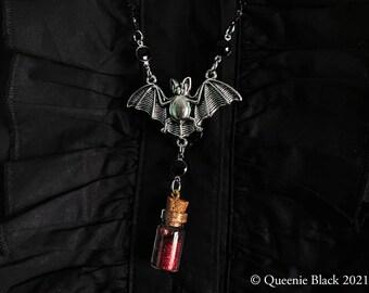 Bat Sparkle Blood Vampire Necklace