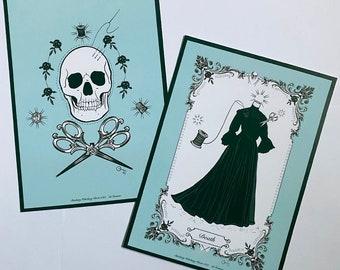 Stitchery Witchery Tarot Art card set