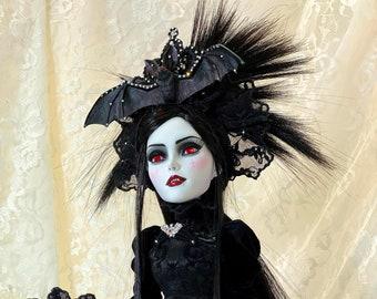 OOAK Victorian Vampire Doll 2 Art Piece