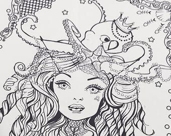 Mermaid Download Coloring Page Pocket Full of Posiez