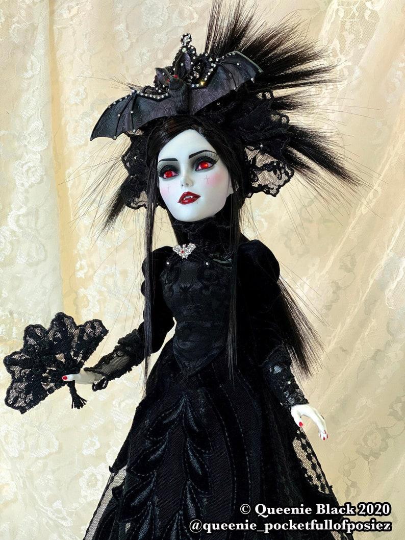 OOAK Victorian Vampire Doll 2 Art Piece image 0