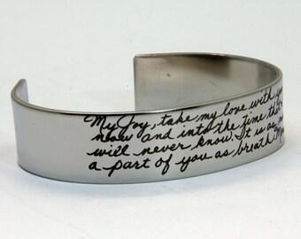 Handwriting jewelry, ACTUAL Handwriting Jewelry, Memorial Signature, Children handwriting, Memorial Jewelry, Long Distance, Anniversary gift