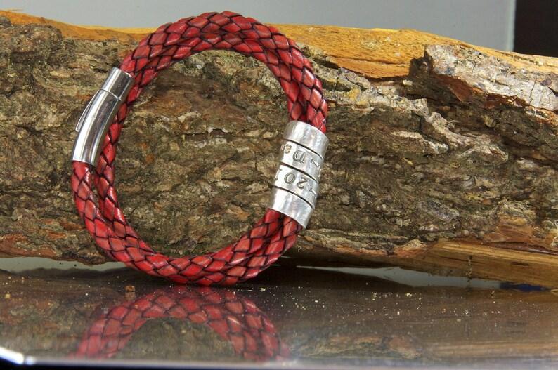 men/'s metal bracelet men/'s personalized bracelet Men/'s secret message bracelet quote jewelry Father/'s Day gift men/'s leather bracelet