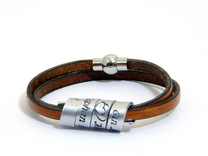 Secret message Personalised message Quote bracelet Bracelet with secret message Secret message leather bracelet Secret message bracelet