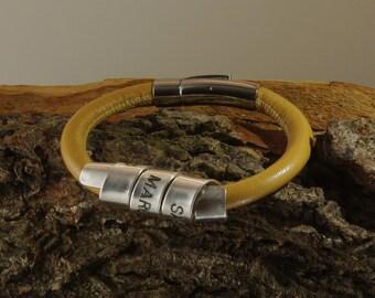 Bracelet for women, Leather bracelet for women, Personalized bracelet for women, Womens personalized bracelet, Women scroll bracelet