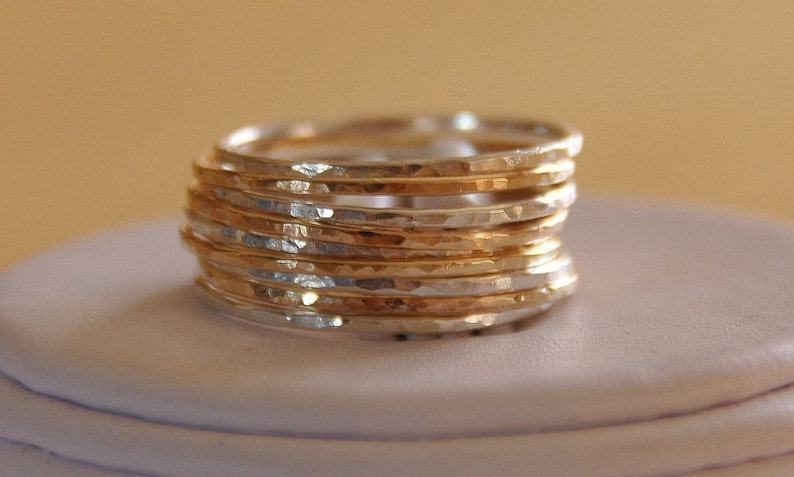 Etsy jewelry set of 9  gold filled & sterling silver image 0