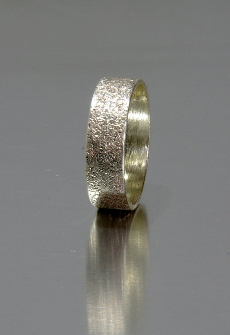 Personalized Unique Wedding Band for MenWomen Personalized image 0