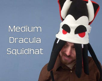 Dracula Squid Hat Plush Fleece Medium Vampire