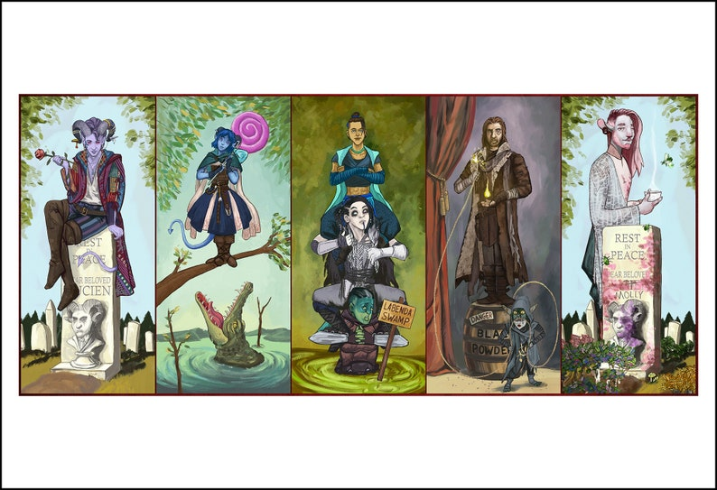 Haunted Nein 13x19 Critical Role Mashup Art Print Combined All 5