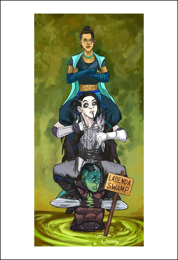 Haunted Nein Beau Yasha Fjord Critical Role Etsy Catch them every thursday night at 7:00 pm pt on the geek & sundry twitch. haunted nein beau yasha fjord critical role mashup art print