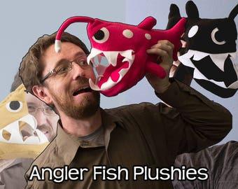 Small Angler Fish Plushie - Various Colors