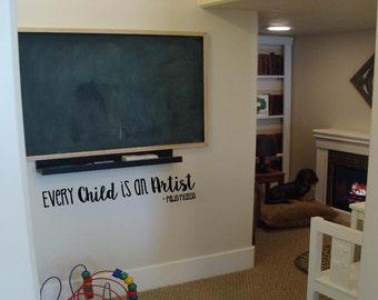 Every Child is an Artist vinyl design wall sticker