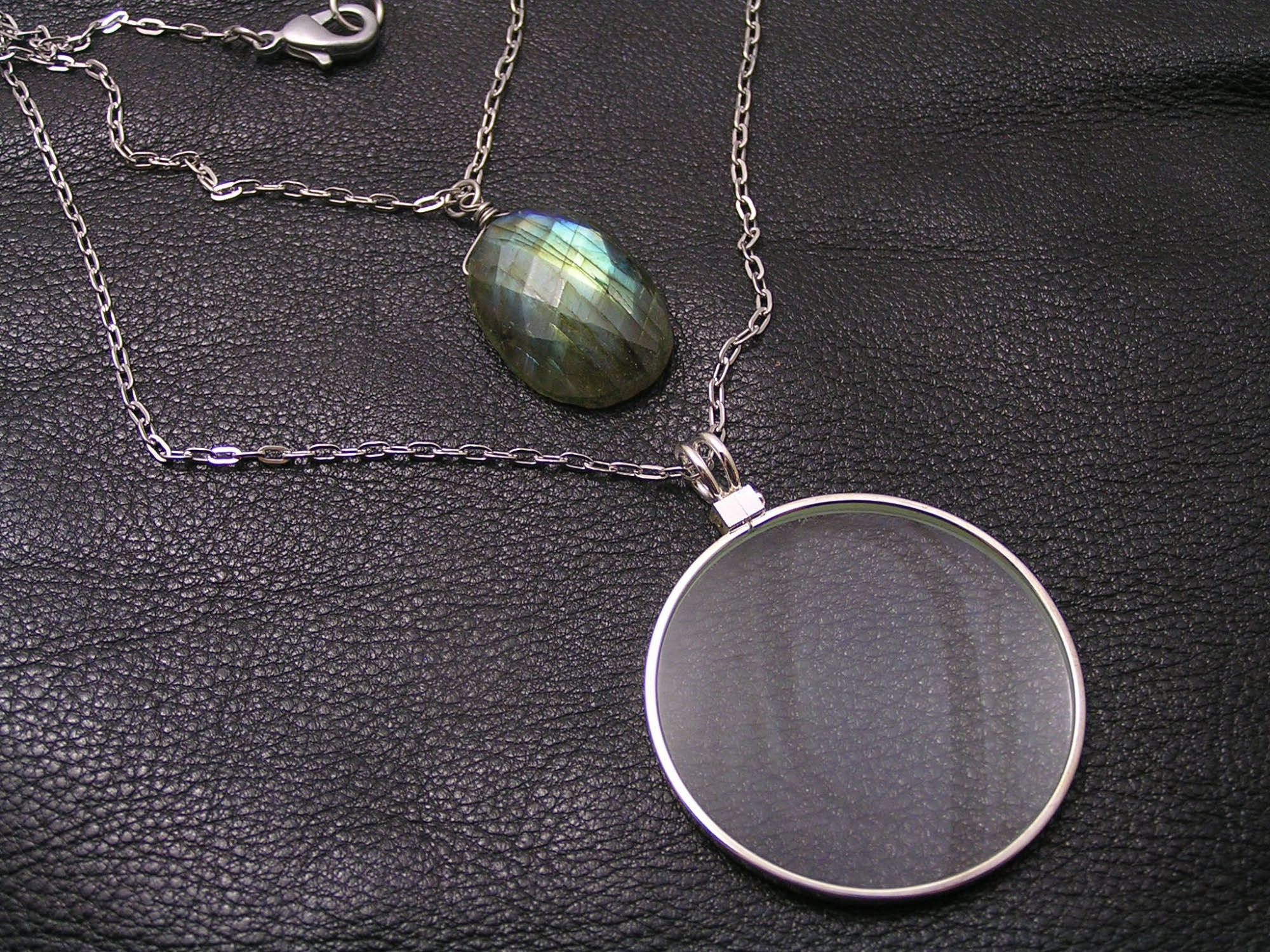 Loupe Necklace Monocle Necklace Magnifying Glass Necklace Long Necklace