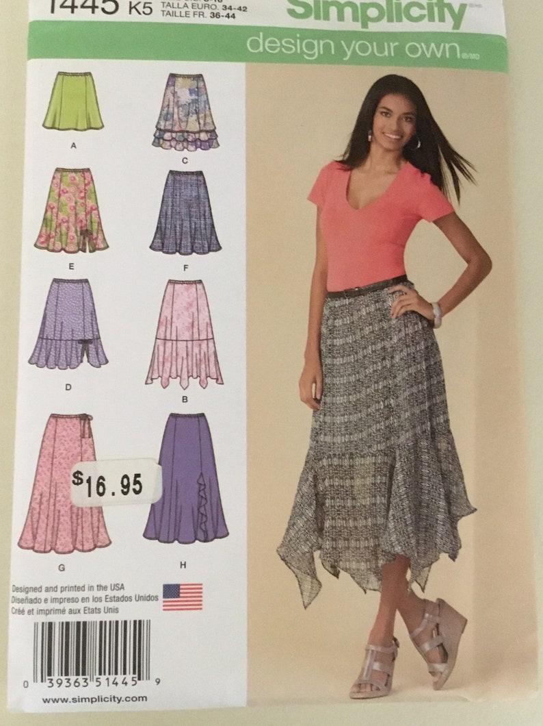 fff20b3bf74a1 FREE SHIP Simplicity 1445 Skirt Pattern Swing Skirt Flared Skirt Maxi Skirt  Ruffled Skirt Flounced Skirt Mini Skirt Midi Skirt Size 8-16