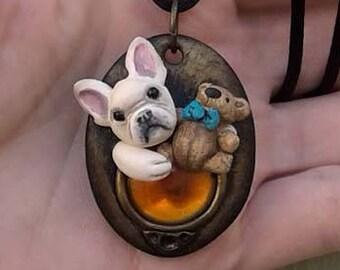 Schmuck französische Bulldogge Halsband Hund Anhänger Hund Liebhaber Hund Liebhaber Halskette Hund Liebhaber Geschenk Schmuck mit Hunde Frenchie Schmucksachegeschenk