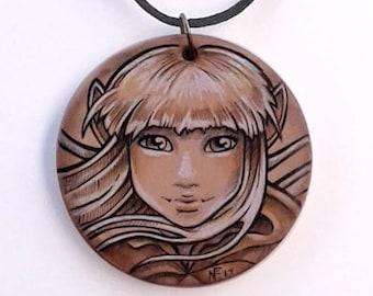 Der dunkle Kristall Schmuck Kira Halskette dunkle Kristall Schmuck Fee Geschenk für ihren Fee Halskette gotische Geschenk Gelfling Halskette 80er Jahre Film