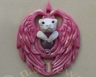 Angel Jewelry CUSTOM Animal Pendant Pet Loss Gift Animal Lover Gift Rainbow Bridge Inspirational Gift Memorial Jewellery Pet Owner Gift
