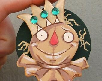 Zauberer von Oz Schmuck Vogelscheuche Brosche Pin Emerald City Handgemachter Schmuck Dorothy Geschenk für Freund einzigartiges Geschenk für ihre Herbst-Pin-Herbst-Schmuck