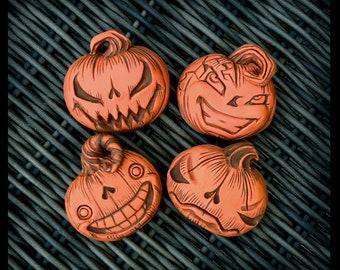 Pumpkin Pin, Jackolantern, Halloween, Jack O Lantern, Gothic Jewelry, Fall, Autumn, Horror, Gifts