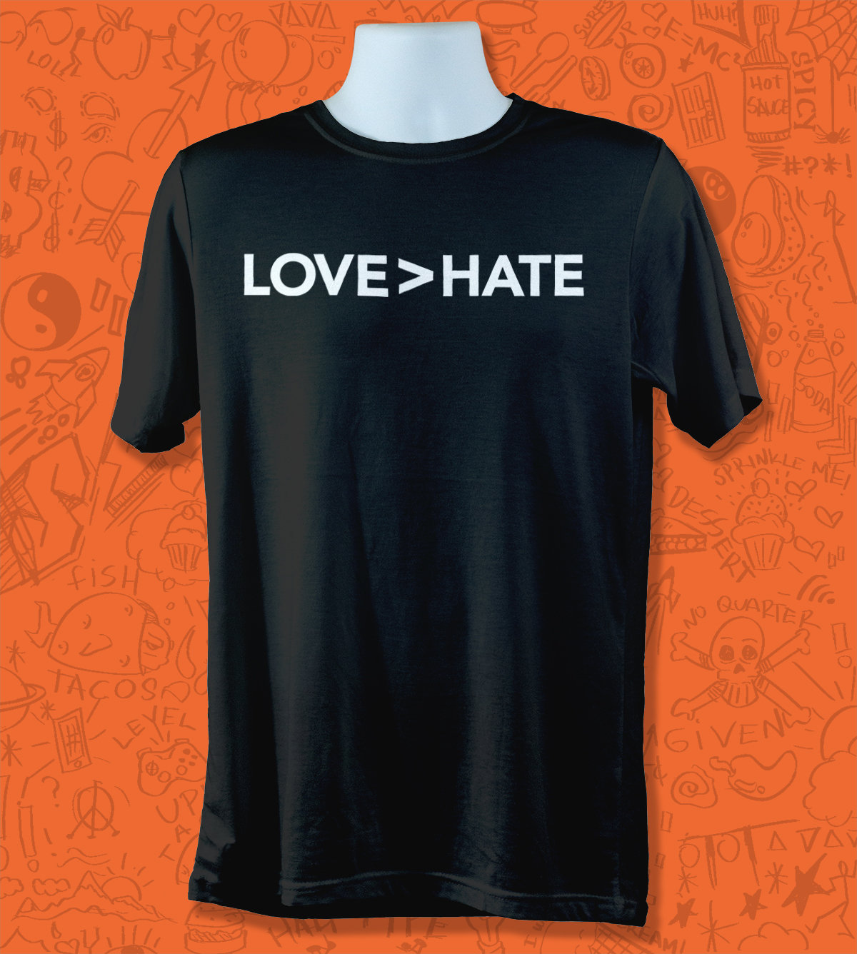 Unisex Gift for Men and Women Love greater than Hate shirt Anti Hatred Tee Pro Happiness Top Love over hate Tshirt