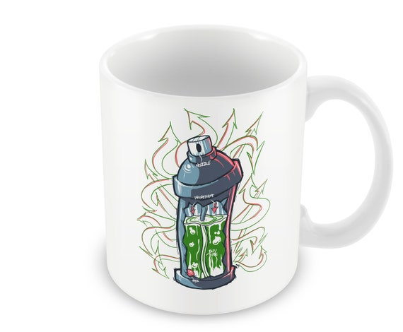 Spray Paint Graffiti Art Coffee Mug Ceramic Coffee Mug Etsy