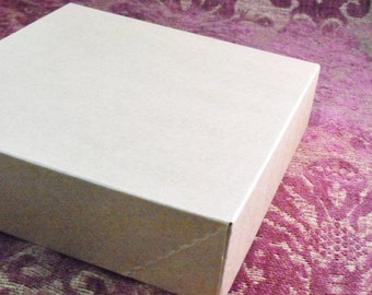 10 Pack Kraft Brown Paper Two Piece Style Packaging Retail Gift Boxes 6.5X6.5X1.65 Inch Size