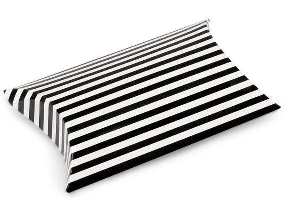Kussen Wit 12 : Herfst sale 12 pack zwart wit streep papier kussen vakken 3 x etsy