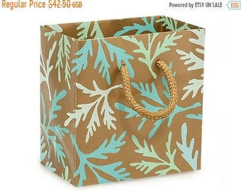 Spring Sale 50 Pack Sea Coral Recycled 4 x 2.5 x 4 inch Paper Handle Merchandise Bags