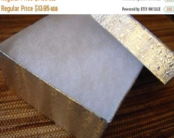 Spring Sale 10 Pack Silver Foil Swirl Color 3.5X3.5X2 Deep Cotton Filled Jewelry Retail Gift Boxes
