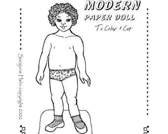 Modern Girl 1970s paper doll