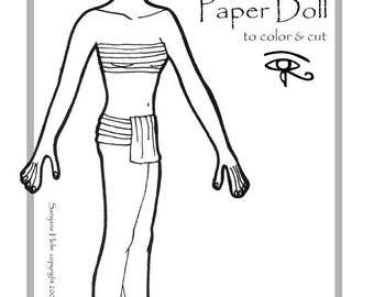 Egyptian Princess Paper Doll