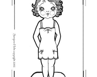 1920's style paper doll set