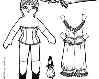 Heirloom Lady Paper Doll Set